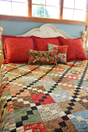 Flanged Pillow Shams and Bound Accent Pillows