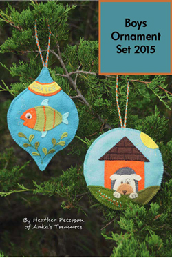 Boys Ornament Set  2015