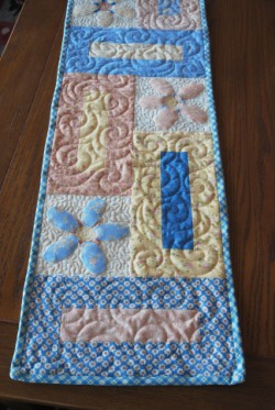 Keyholes Table Runner -- Color Option